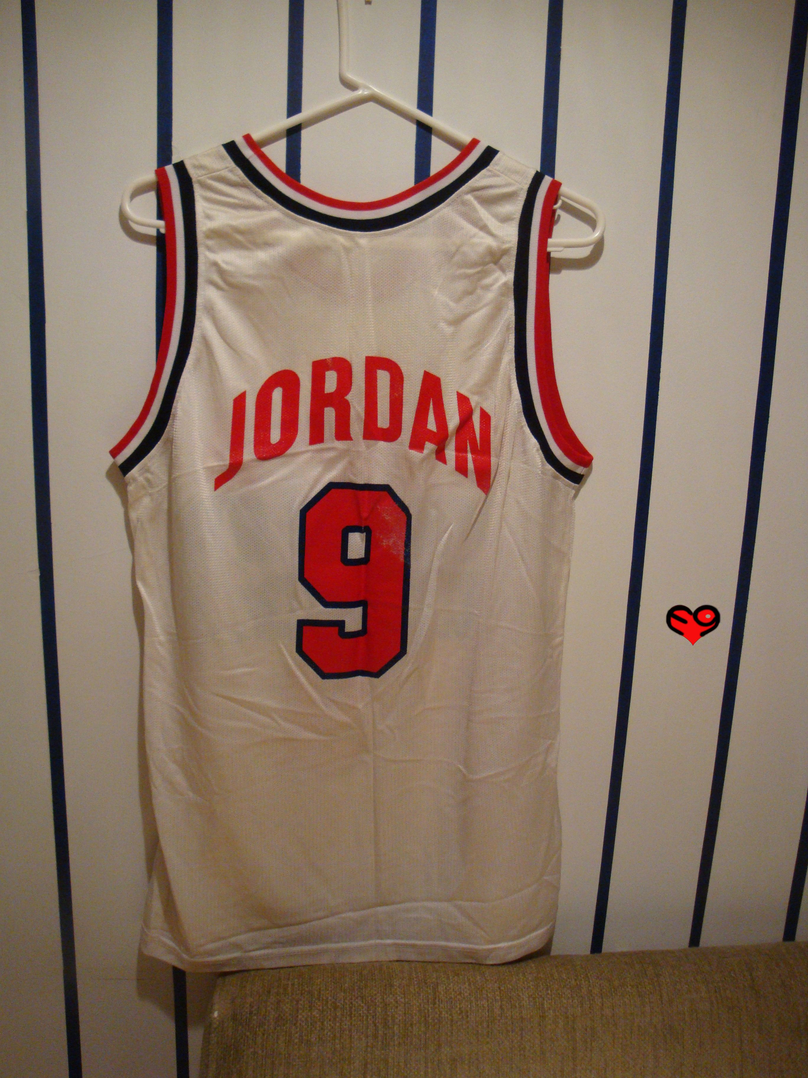 Jordan Usa Olympic Replica Home Jersey Back