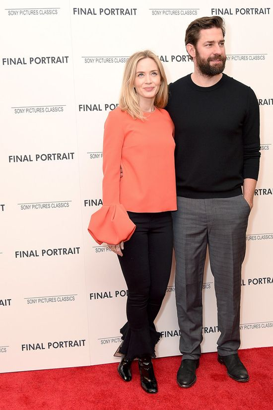 "Emily Blunt and John Krasinski at the ""Final Portrait"" NY ..."