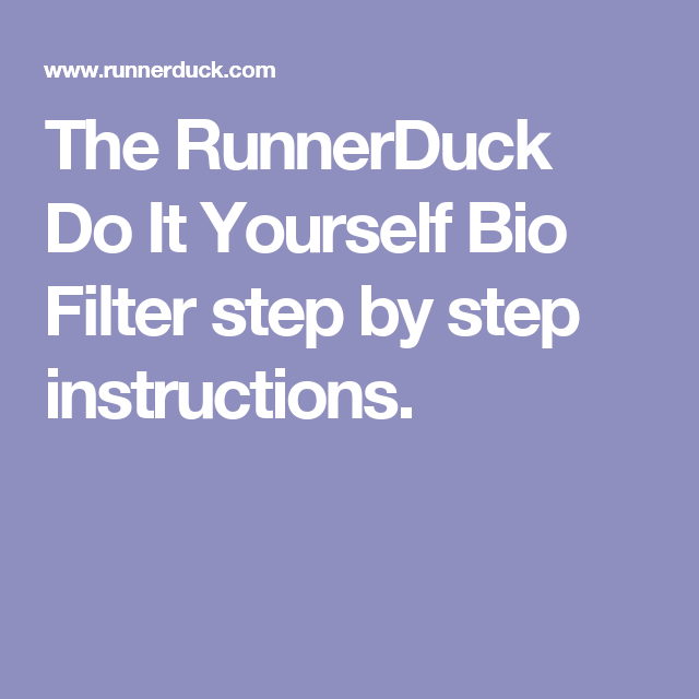 The runnerduck do it yourself bio filter step by step instructions the runnerduck do it yourself bio filter step by step instructions solutioingenieria Image collections