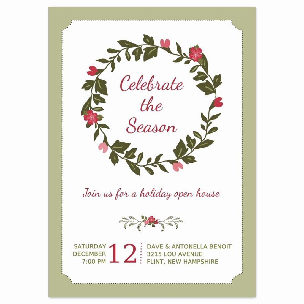 Annual Holiday Party Invitation Template Elegant 5 5 Annual Holi