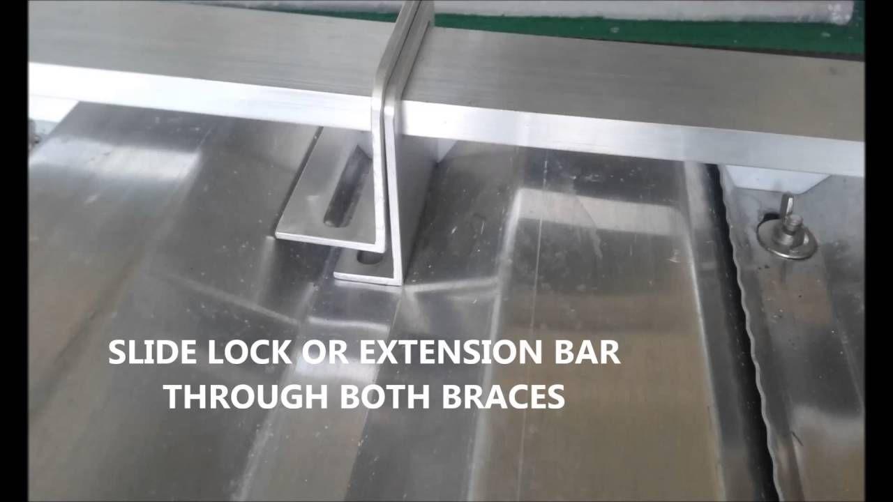 Center lock extension bar support d hurricane