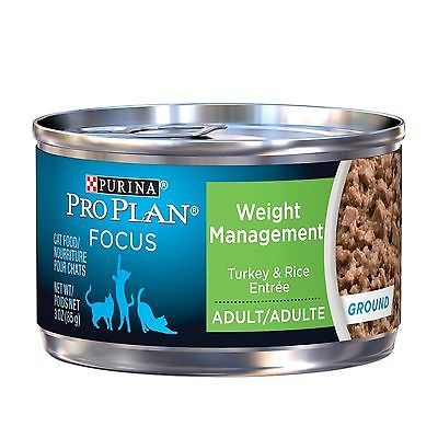 Purina Pro Plan Wet Cat Food Focus Adult Weight Management Turkey and Rice En...