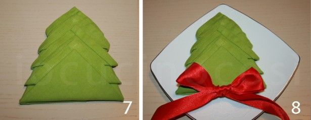 Come Piegare I Tovaglioli Per Natale Piega Ad Albero