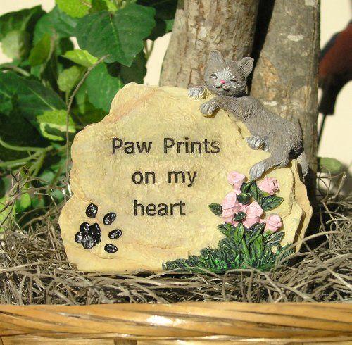 Cat Memorial Message Rock Paw Prints on My Heart Banberry Designs http://www.amazon.com/dp/B00FFAKUXC/ref=cm_sw_r_pi_dp_d2Ueub1YWZVZF