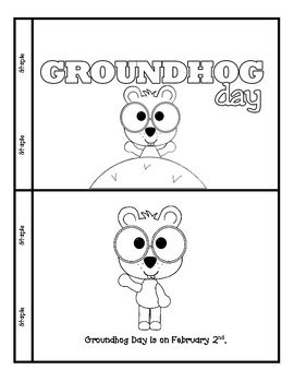Groundhog Day mini-book and comprehension worksheet