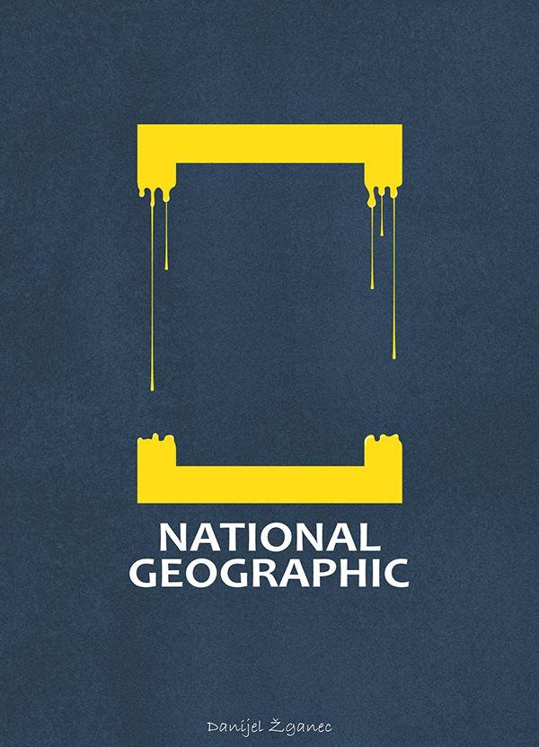 National Geographic Logo Illustration by Danijel Žganec