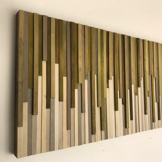 Kunst - Holz Wand - rustikale Holz-Skulptur Wand Wandmontage 46 X - innovative holzpaneele deckenmontage