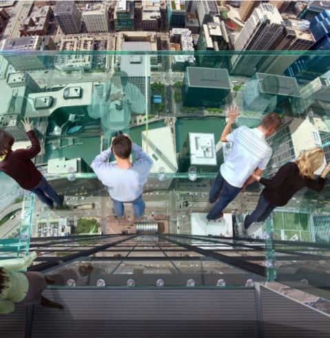 Most Strangest Glass Box Balcony Of The World - Sears Tower, Chicago
