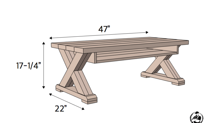 X Leg Coffee Table W Shelf Coffee Table Furniture Diy Furniture Diy Coffee Table