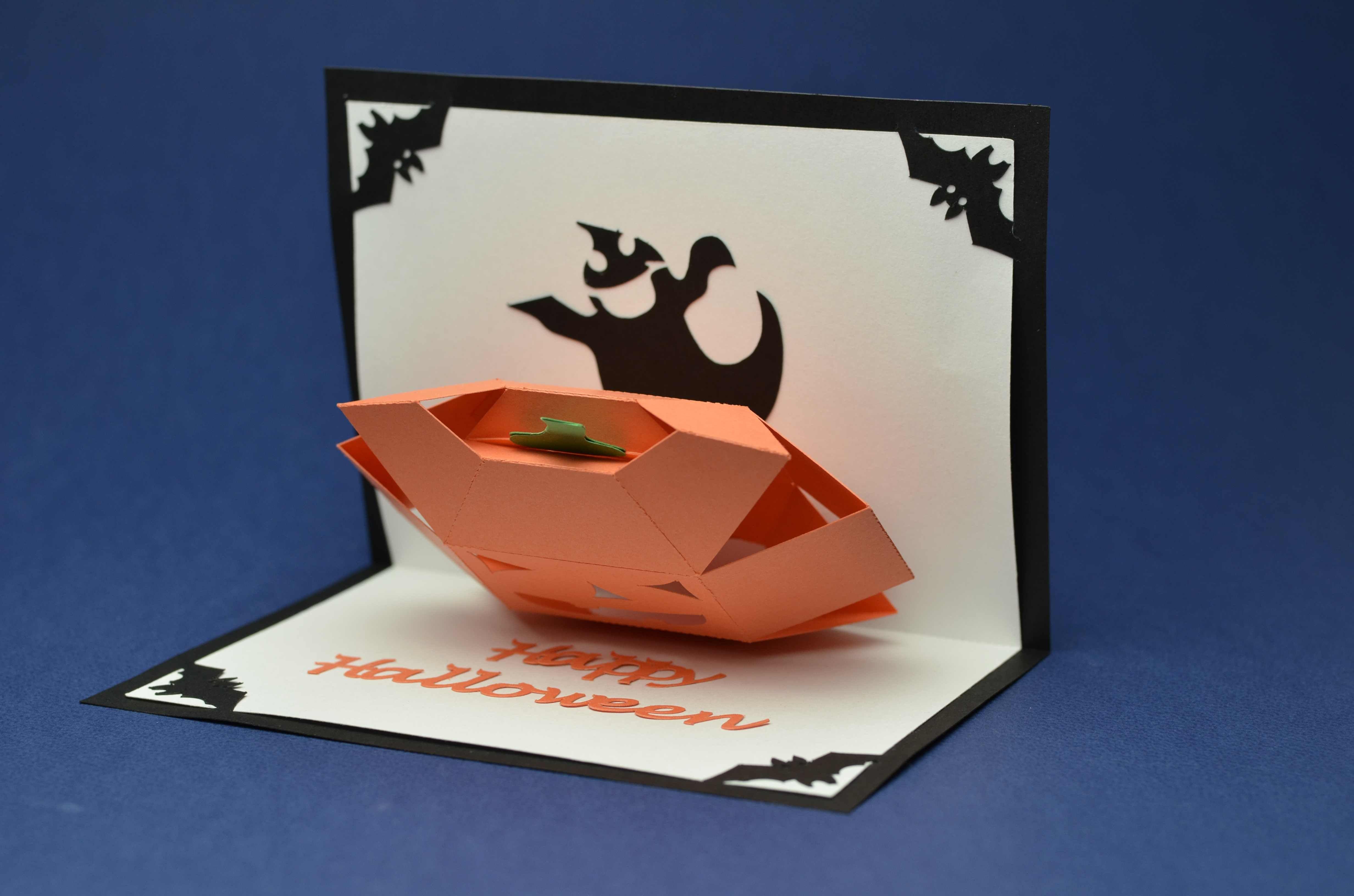 Halloween Pop Up Cards Templates.3d Pumpkin Pop Up Card Template Paper Pop Up Card
