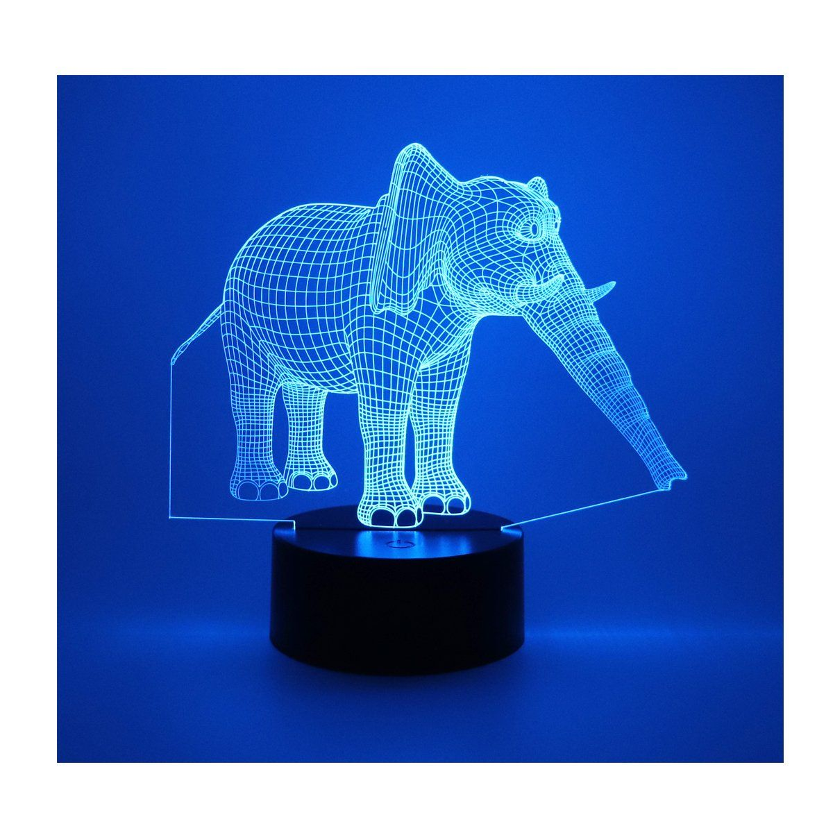 Hguangs Elephant Shape Night Lamp 3d Lamp 3d Optical Illusion Night Light Desk Table Light 7 Colors Changing Touch Light Table Night Lamps 3d Optical Illusions