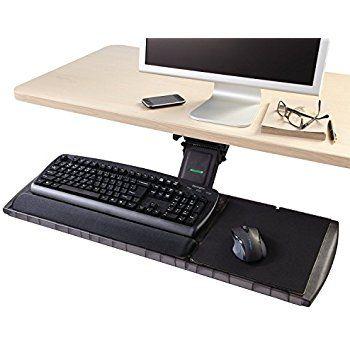 Amazon Com Vivo Adjustable Computer Keyboard Mouse Platform Tray Ergonomic Under Table Des Office Supplies Desk Accessories Kensington Office Supplies List