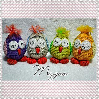 Little Sleepy Owls - free  crochet pattern by Joanne Jordan.