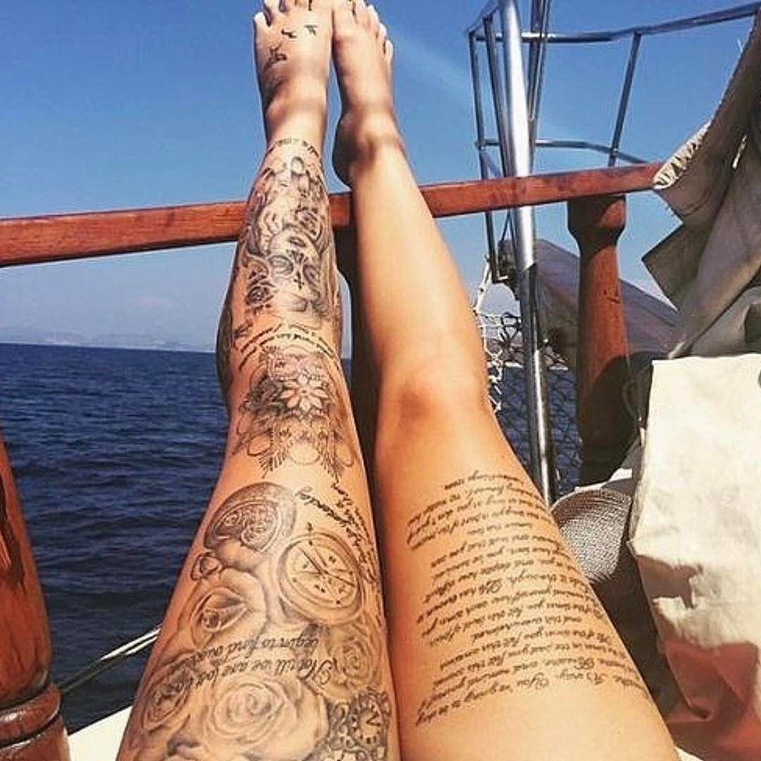 Tatouage de femme des id es pour trouver le tatouage id al tatouages pouvoirs et superbe - Tatouage jambe homme ...