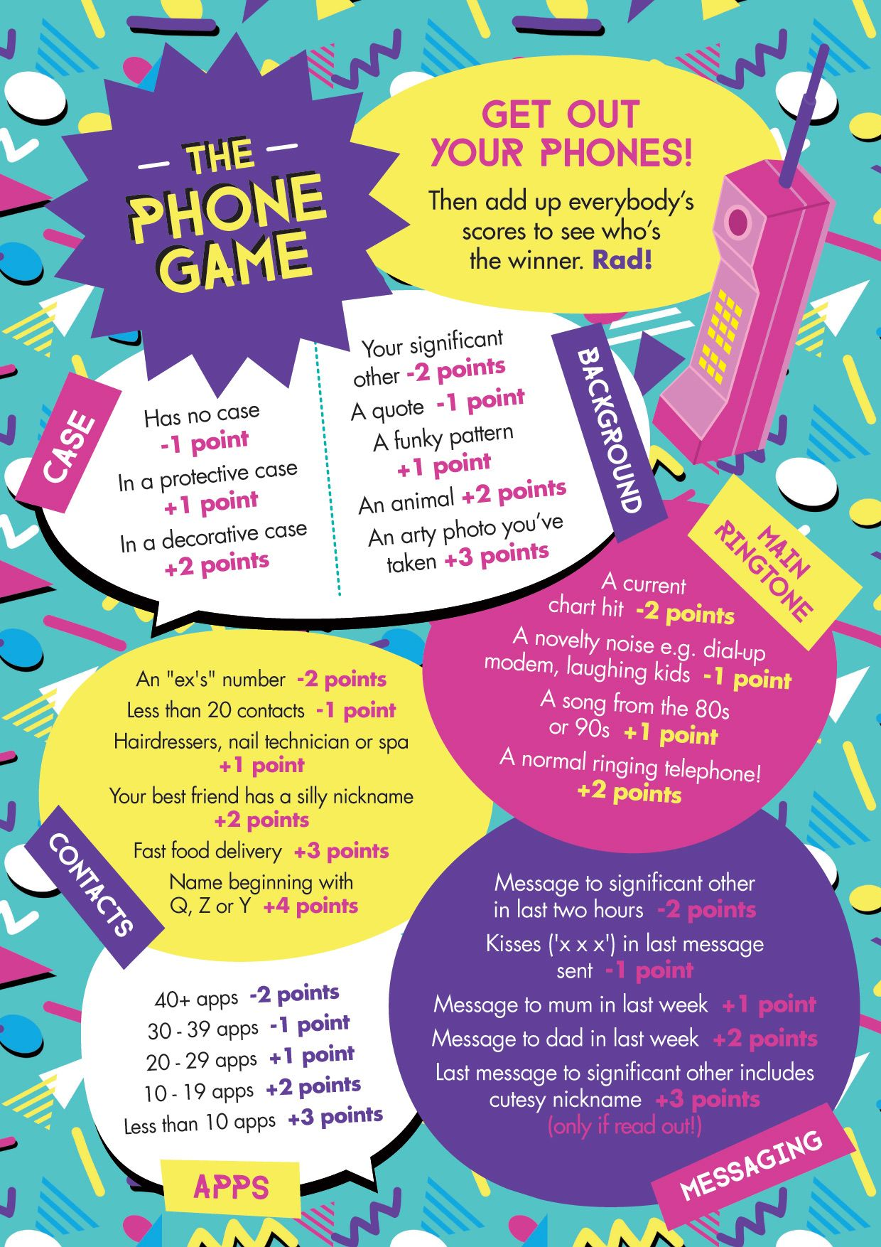 Free Printable Easy Simple The Phone Game Hen Party