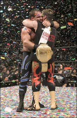 Eddie Guerrero and Chris Benoit GREATEST MOMENT IN WRESTLEMANIA HISTORY IS THESE TWO AT THE END OF WM 20