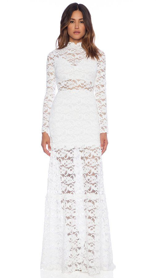 "Pin for Later: Kendall Has the Most ""Liked"" Picture on Instagram, All Because of This Dress  Nightcap Dixie Lace Long Dress ($550)"