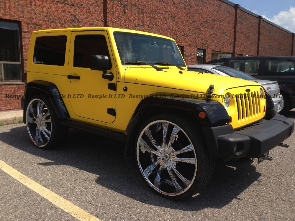 Matte Yellow Jeep Wrangler is another project out there made to stand out…