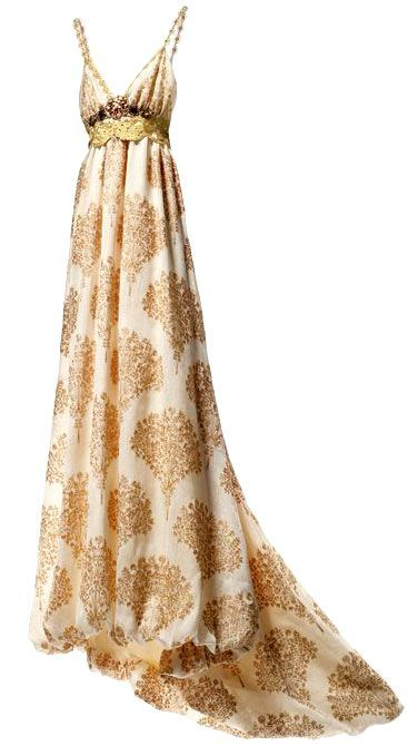 BEIZE & GOLD PRINTED DRESSES