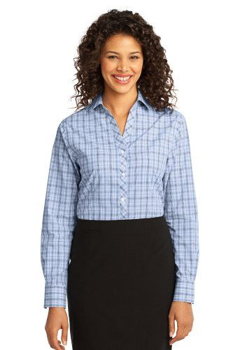 Port Authority; Ladies Crosshatch Plaid Easy Care Shirt. L641