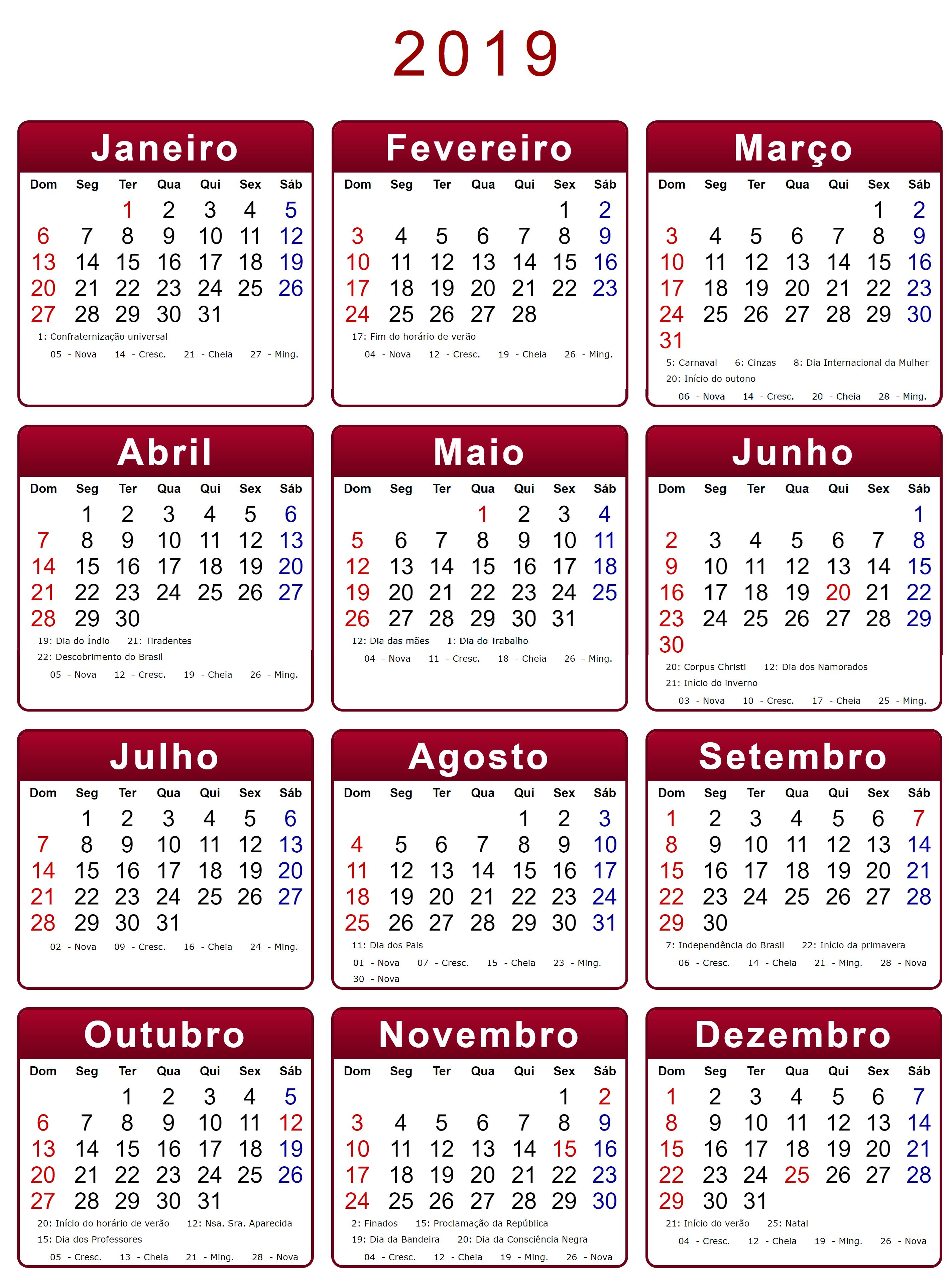 Emoji Del Calendario.Calendario 2019 Da Stampare Calendario 2019 Da Stampare