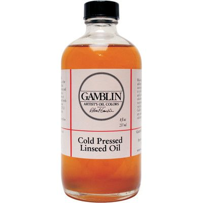 Gamblin Cold Pressed Linseed Oil Size: 8 oz