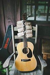guitar sign holder for wedding