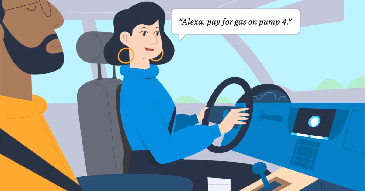 Alexa will help pay for your gas at exxonmobil pumps in