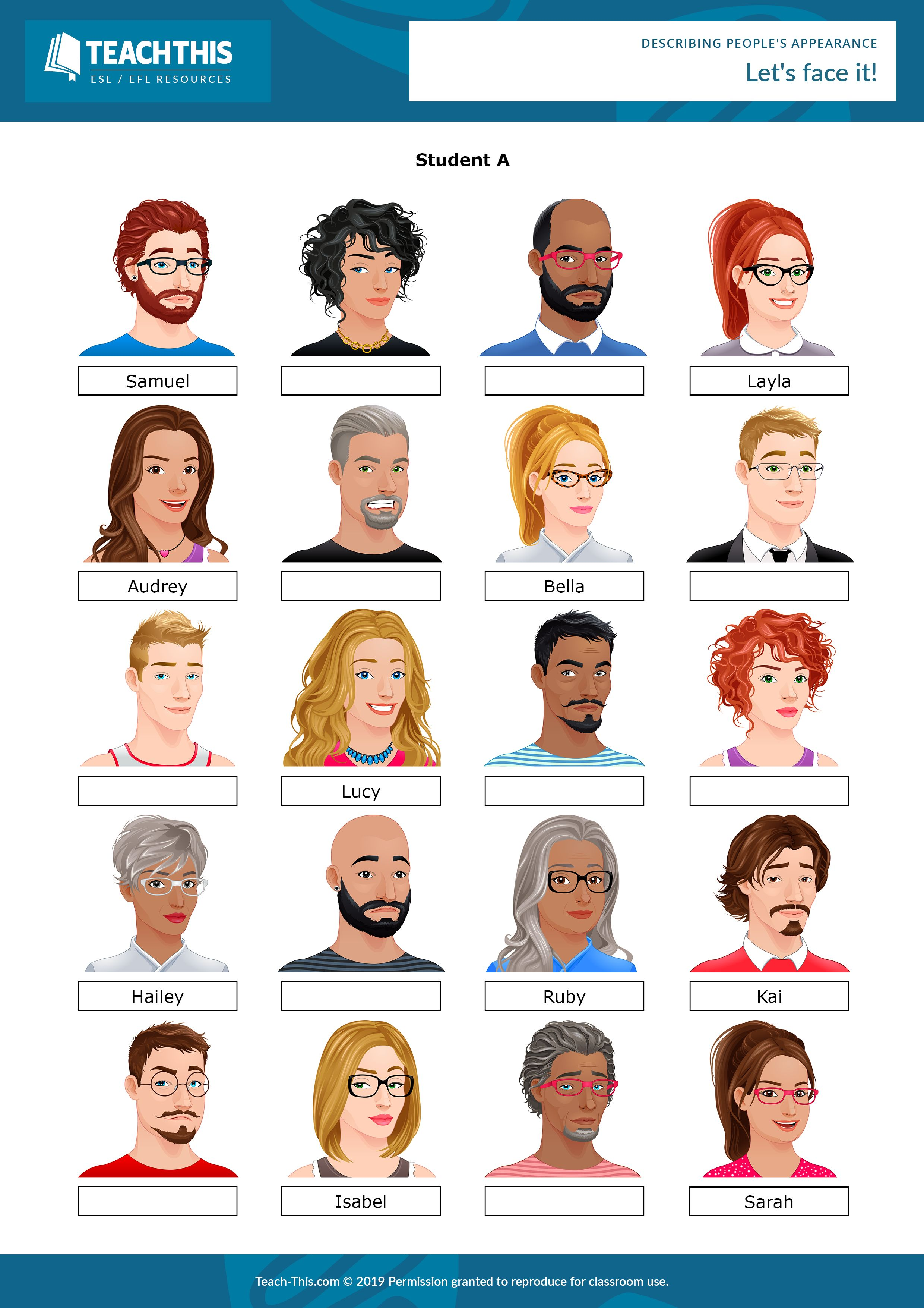 Describing People's Appearance Adjectives to describe