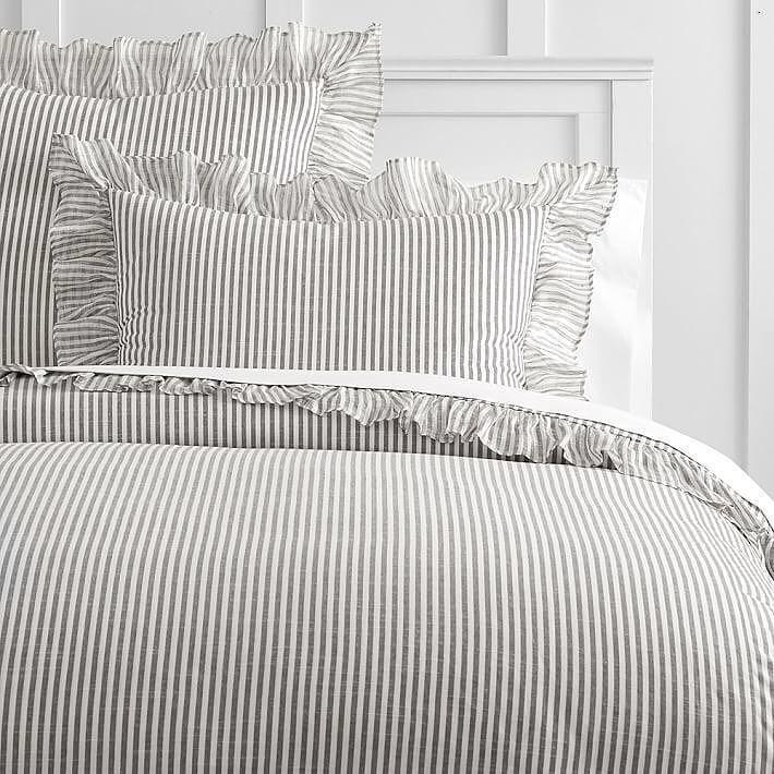 Striped Duvet Covers, Black Ticking Stripe Bedding