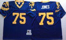 premium selection 76874 e1c13 Rams #75 Deacon Jones Blue Throwback Jersey | Wholesale ...