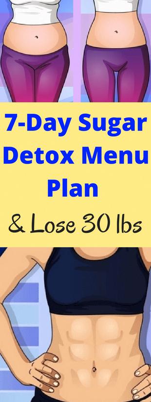 7-Day Sugar Detox Menu Plan and Lose 30 lbs – healthycatcher #SummerDetoxPlan #sugardetoxplan