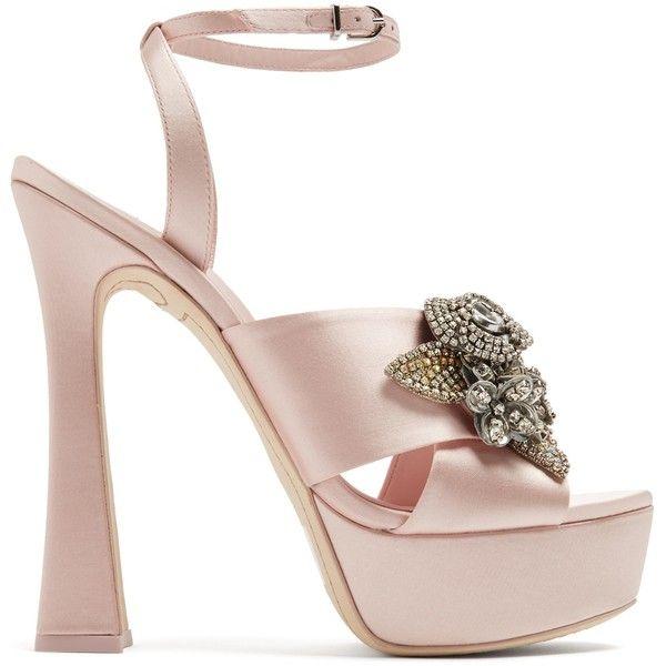 a6aad5a07d4 Sophia Webster Lilico floral-embellished satin platform sandals ...