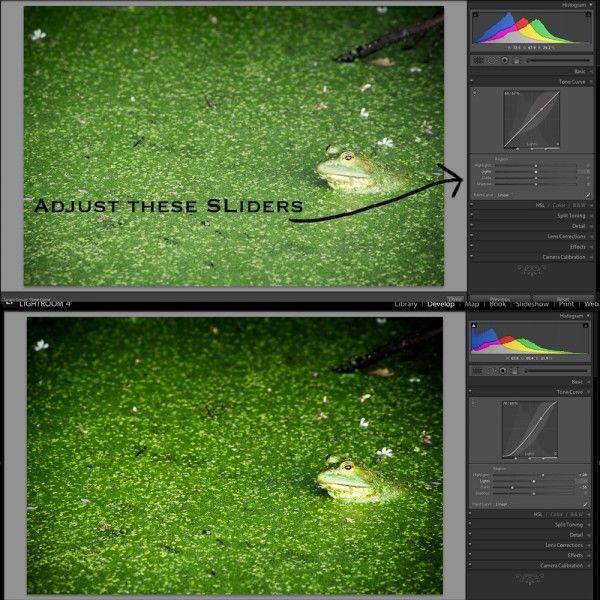 Lightroom sliders explained