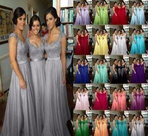 stock neu lange brautjungfer kleid chiffon prom abendkleid womens partykleid  ballkleid lang