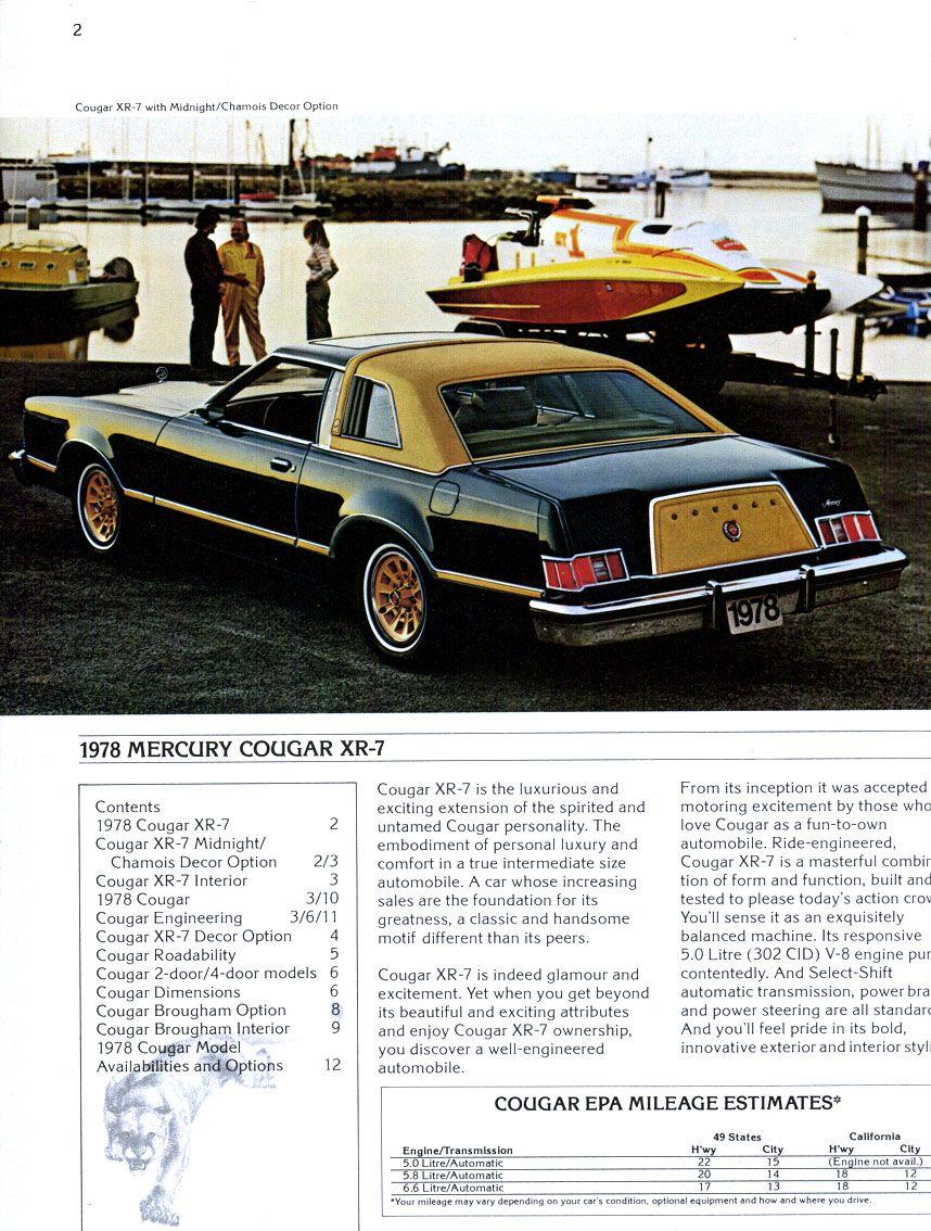 1978 Mercury Cougar XR7 httpsplusgooglecom