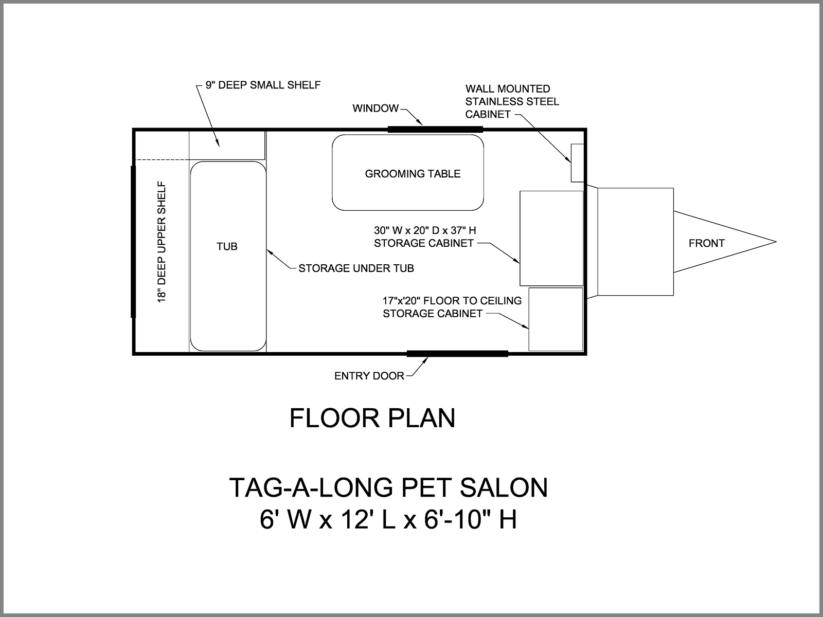 Dog Grooming Trailer-Floor Plan | Dog Grooming | Pinterest | Dog