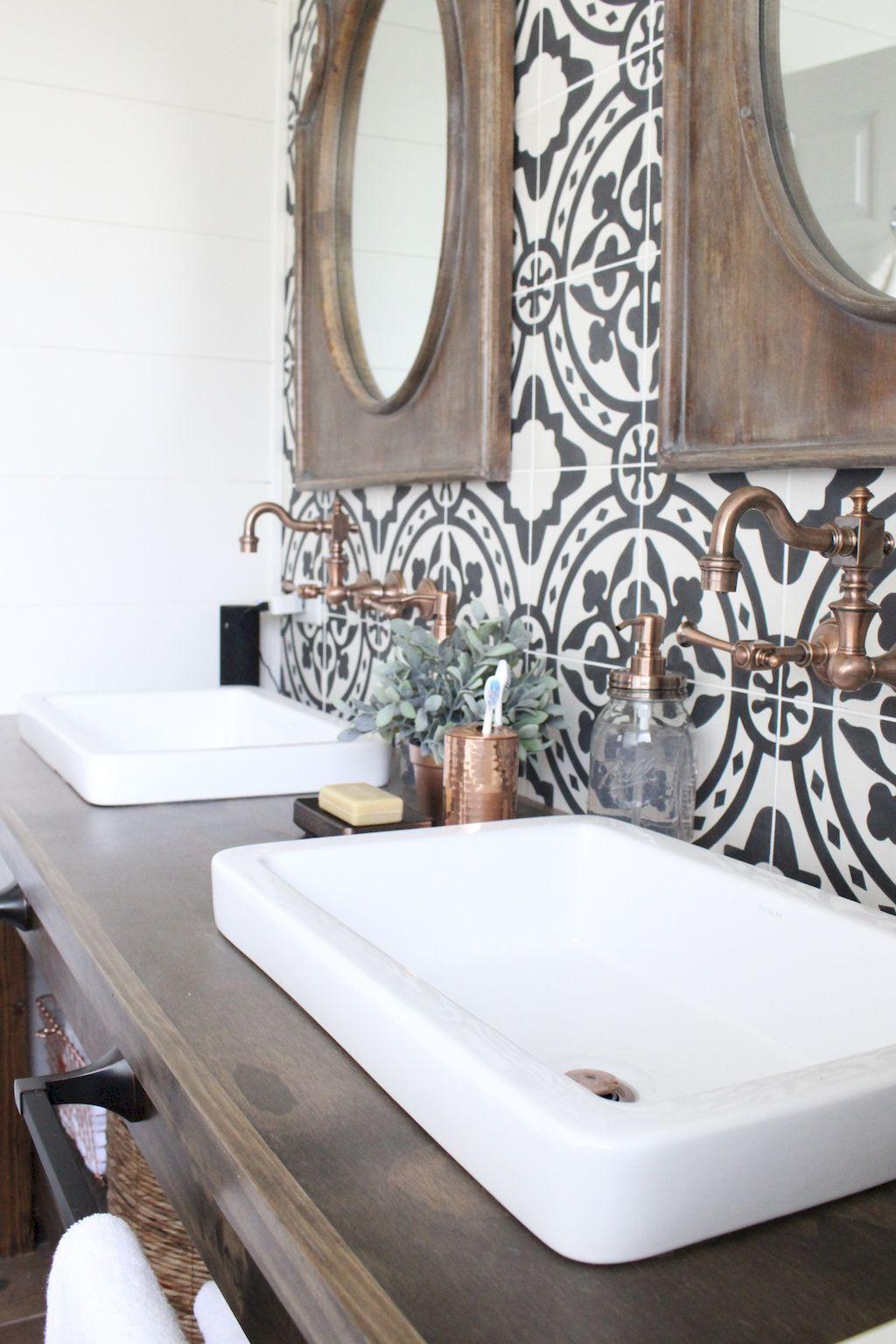 Vintage badezimmer design vintage farmhouse bathroom remodel ideas on a budget   bath