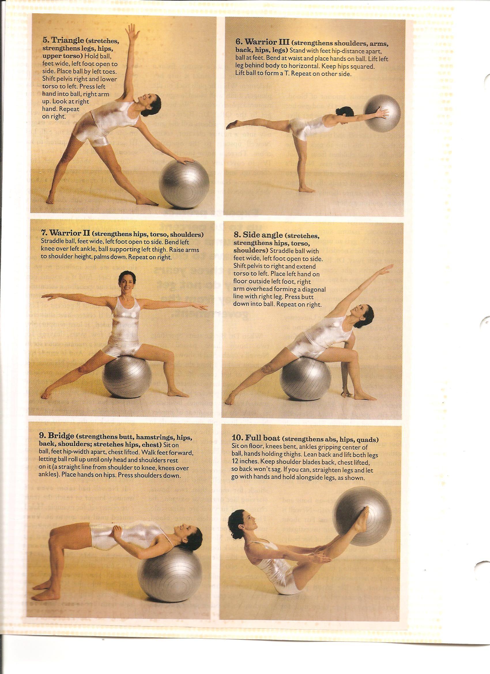 Stability ball Yoga part 2 Ejercicios Con Pelota c64422b6ac7e