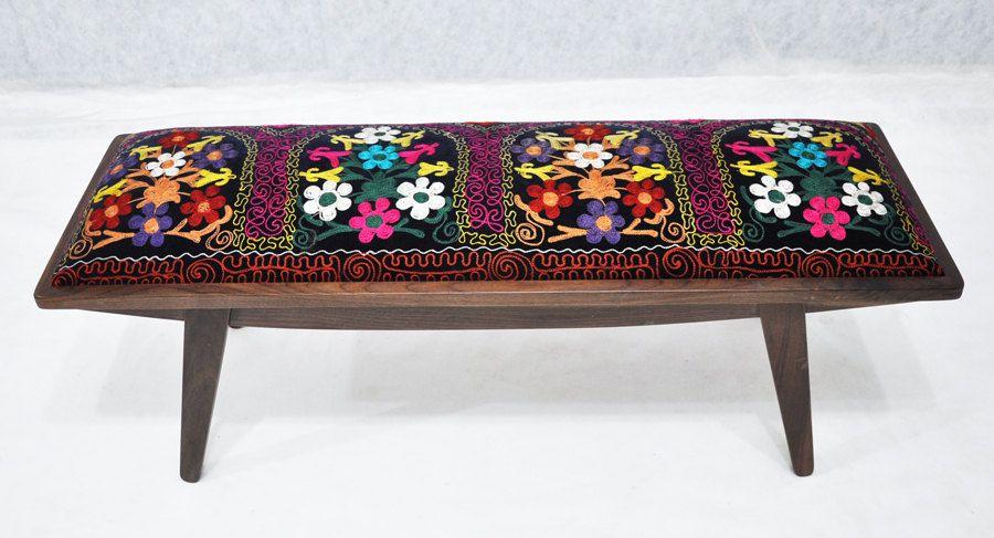marquis ottoman with Suzani fabrics - etsy namedesignstudio   Home ...
