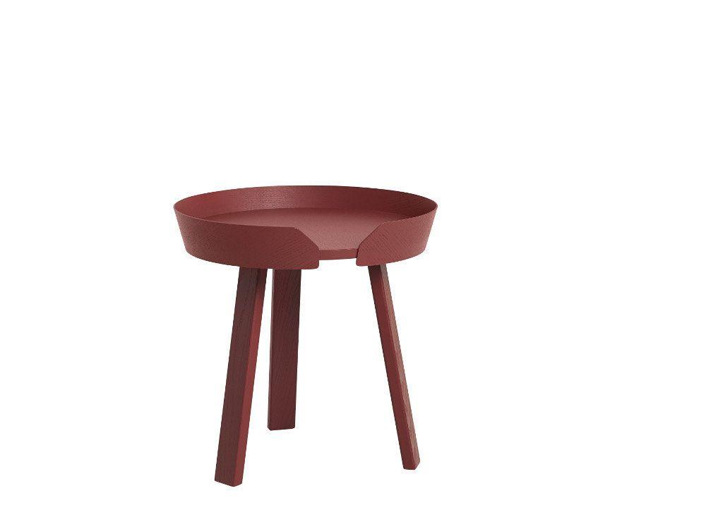 Muuto Around Beistelltisch klein - dark red Jetzt bestellen unter - bar wohnzimmer möbel