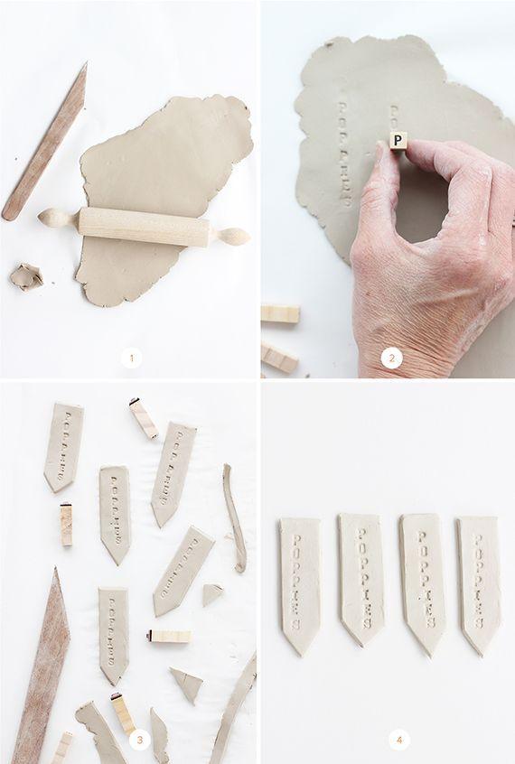 DIY: Clay Garden Markers