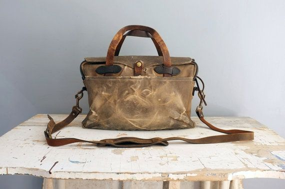 Vintage Filson Briefcase Bag 257 Is Rox 30 Years Old Great Patina Beautifully Weathered And Worn In Just The Way We Like Them Talon