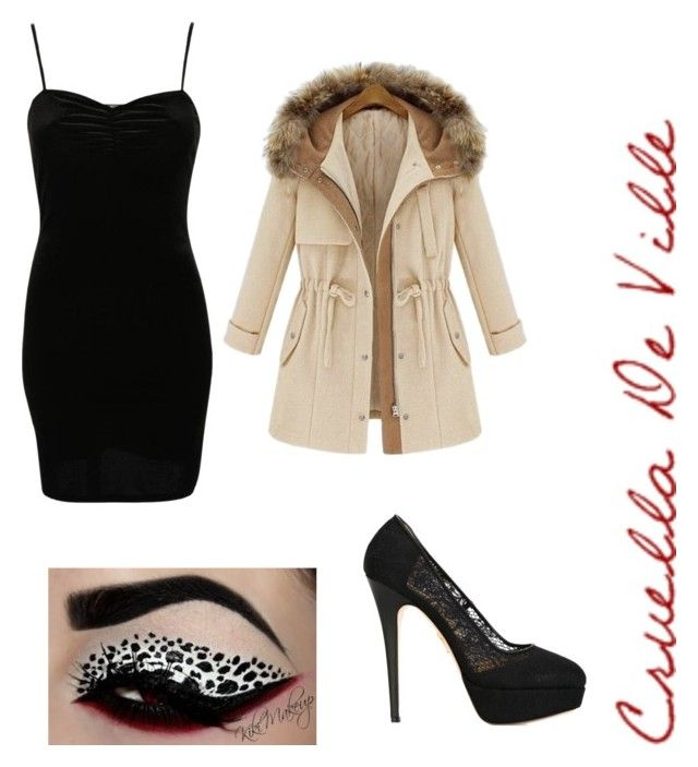 """Cruella de ville"" by l4riss4 ❤ liked on Polyvore featuring Pilot and Charlotte Olympia"