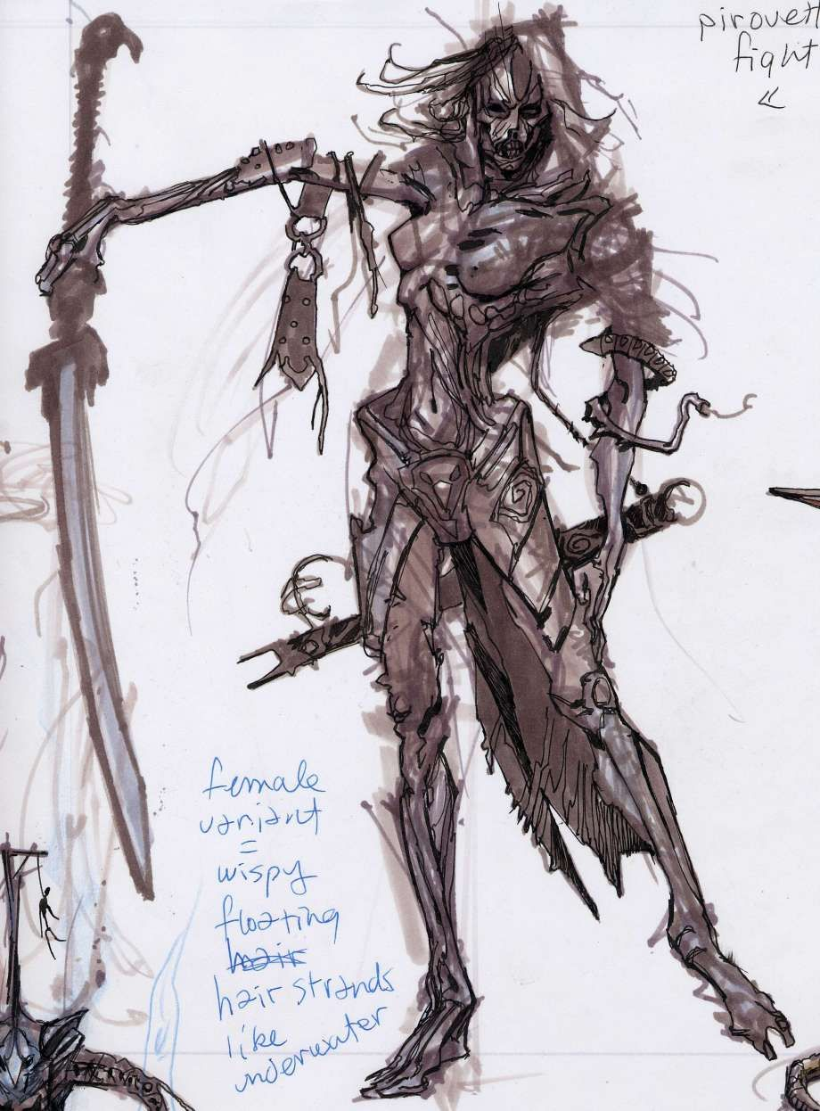 Skyrim Character Design Ideas : Draugr concepts concept art from the elder scrolls v