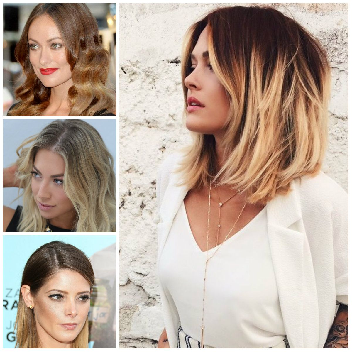 Ombre Hairstyle For Medium Hair Short Hairstyles 2017 New Haircuts To Try