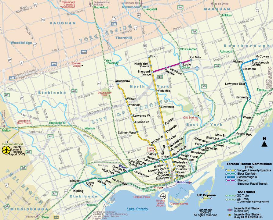 Metro Map of Toronto / Carte du Metro de Toronto | Toronto