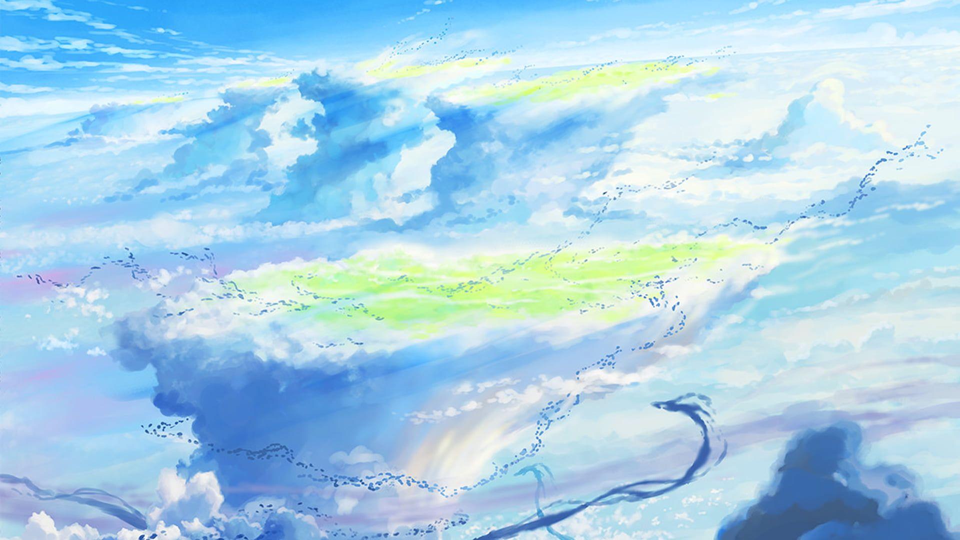 Weathering With You Makoto Shinkai anime blue sky