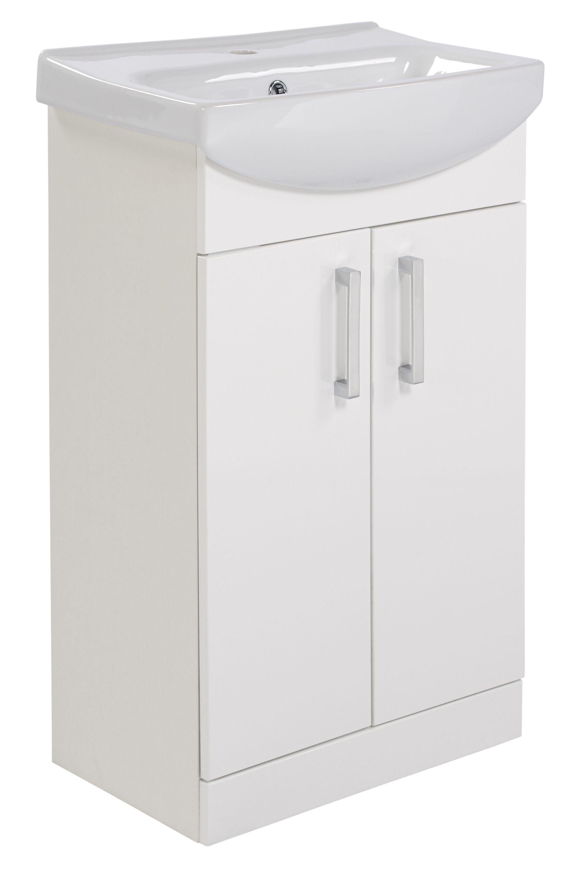 Ardenno Gloss White Vanity Unit & Basin Set   Vanity units ...