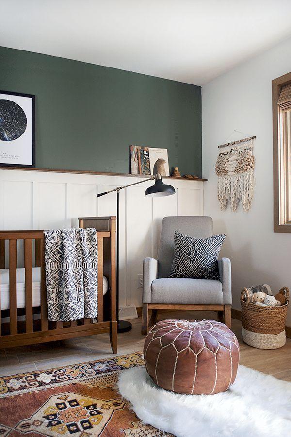 Photo of Das Kinderzimmer des modernen und Vintagen Jungen decken auf